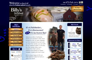 Billy's Seafood Website