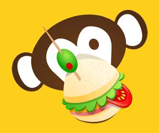 Funky Monkey Logo Concept