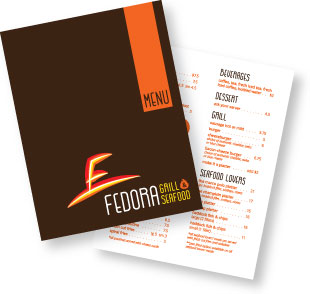 Fedora Grill & Seafood Menu